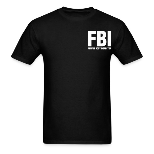 Female Body Inspector with front and Back logo - Men's T-Shirt