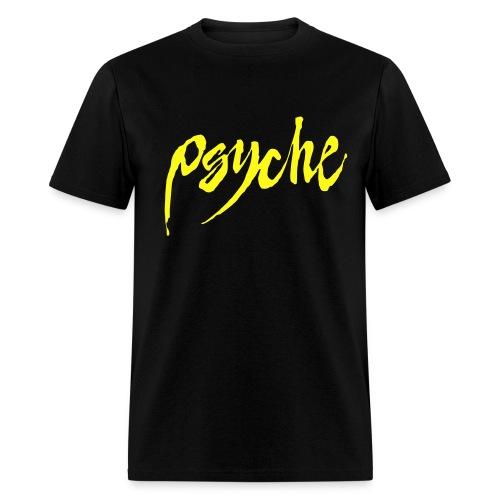 Psyche - Bold Yellow Logo - Men's T-Shirt