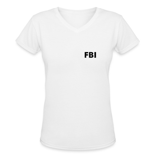 FBI in black - Women's V-Neck T-Shirt