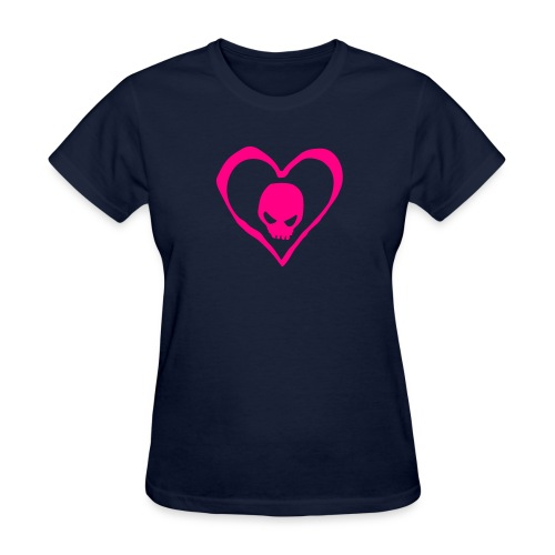 Heart and Skull - Women's T-Shirt