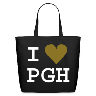 Bags & backpacks ~ Eco-Friendly Cotton Tote ~ Black Tote with Gold Heart