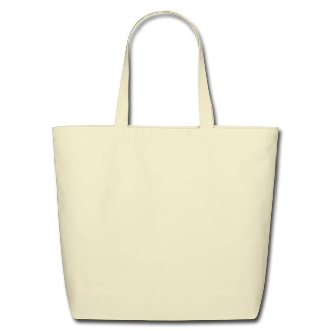Natural Tote with Red Heart