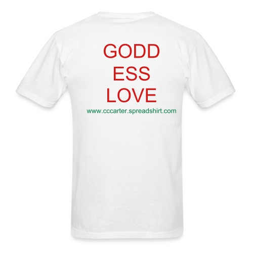 GODD ESS LOVE - print on back - Men's T-Shirt
