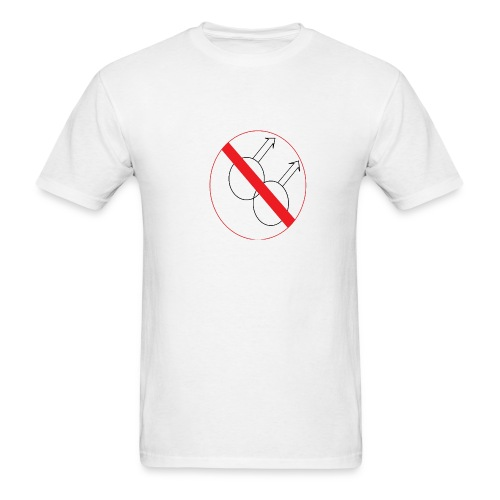 No Gays - Men's T-Shirt