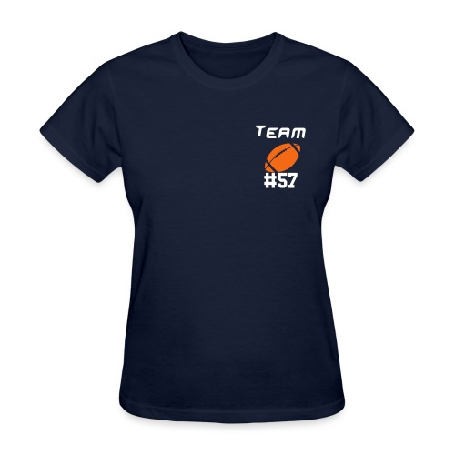 Lady-T O-Line X-ing on Back - Women's T-Shirt