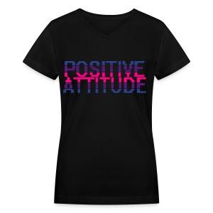 Womens Positive Attitude v-neck - Women's V-Neck T-Shirt