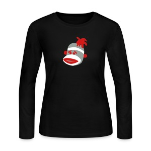 Sock Monkey T-Shirt - Women's Long Sleeve Jersey T-Shirt