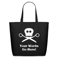 Bags & backpacks ~ Eco-Friendly Cotton Tote ~ Skull & Scissors Tote Bag
