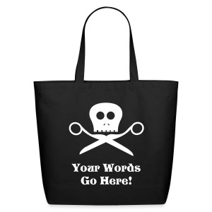 Skull & Scissors Tote Bag - Eco-Friendly Cotton Tote