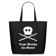 Bags & backpacks ~ Eco-Friendly Cotton Tote ~ Skull & Crochet Hooks Tote Bag
