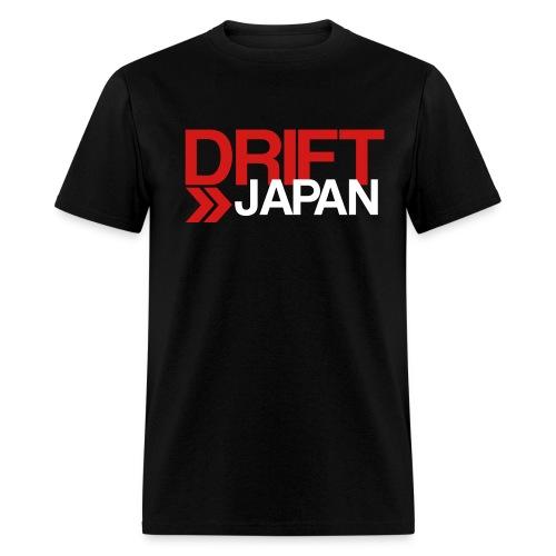 Drift Japan Overlap Logo Black T-Shirt - Men's T-Shirt