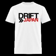 T-Shirts ~ Men's T-Shirt ~ Drift Japan Overlap Logo White T-Shirt