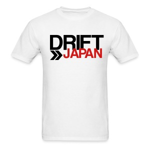 Drift Japan Overlap Logo White T-Shirt - Men's T-Shirt