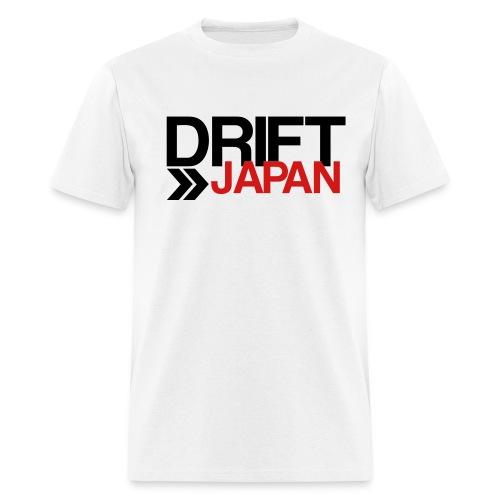 Drift Japan Overlap Logo White T-Shirt - Men's T-Shirt