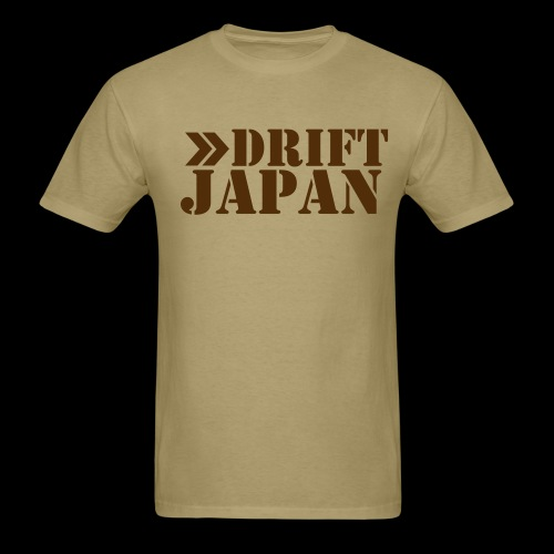 Drift Japan Stencil Logo Khaki T-Shirt - Men's T-Shirt