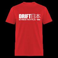 T-Shirts ~ Men's T-Shirt ~ Drift Japan StreetStyle '86 Red T-Shirt