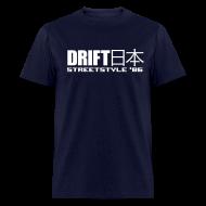 T-Shirts ~ Men's T-Shirt ~ Drift Japan StreetStyle '86 Blue T-Shirt