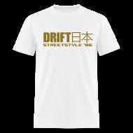 T-Shirts ~ Men's T-Shirt ~ Drift Japan StreetStyle '86 White T-Shirt