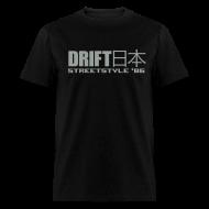 T-Shirts ~ Men's T-Shirt ~ Drift Japan StreetStyle '86 Black T-Shirt