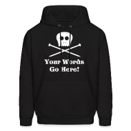 Hoodies ~ Men's Hoodie ~ Skull Knitting Needles White Flex Ink