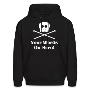 Skull Knitting Needles White Flex Ink - Men's Hoodie