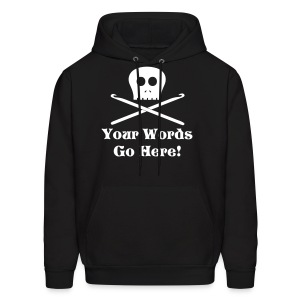 Skull Crochet Hooks White Flex Ink - Men's Hoodie