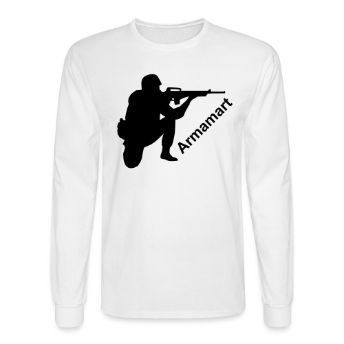 White longsleeve shooter - Men's Long Sleeve T-Shirt