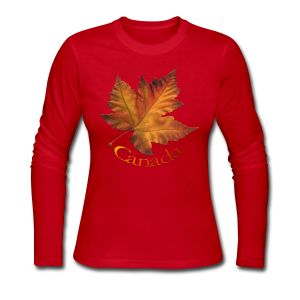 Women's Long Sleeve Canada Souvenir Jersey T- Shirt - Women's Long Sleeve Jersey T-Shirt