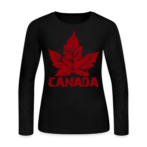 Cool Canada Souvenir Shirt Women's Canada Shirt Long Sleeve - Women's Long Sleeve Jersey T-Shirt