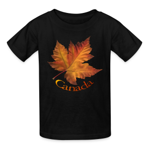 Kid's Canada Souvenir T-shirt Classic Canada Maple Leaf Shirt - Kids' T-Shirt
