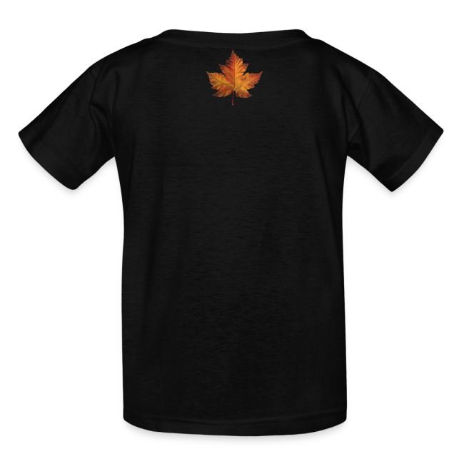 Kid's Canada Souvenir T-shirt Classic Canada Maple Leaf Shirt