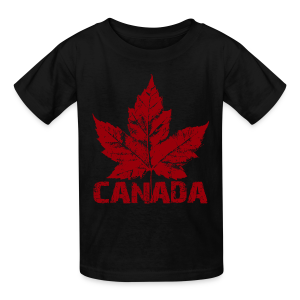 Cool Canada Souvenir T-shirt Kid's Canada Shirt Distressed - Kids' T-Shirt