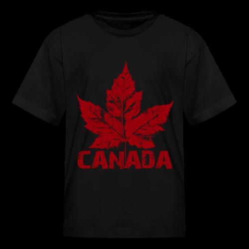 Cool Canada Souvenir T-shirt Kid's Canada Shirt Distressed - Kids' T-Shirt