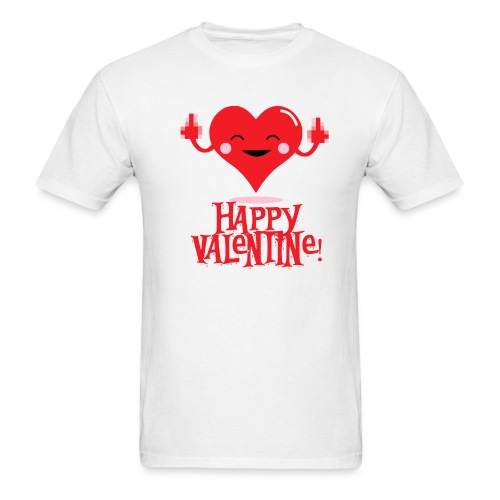 HAPPY FLIPPIN VALENTINE T-Shirt - On Sale - Men's T-Shirt