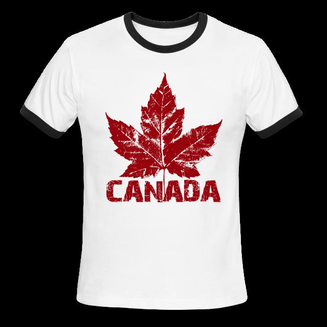 Cool Canada Souvenir T-shirt Mens Retro Canada T-shirt