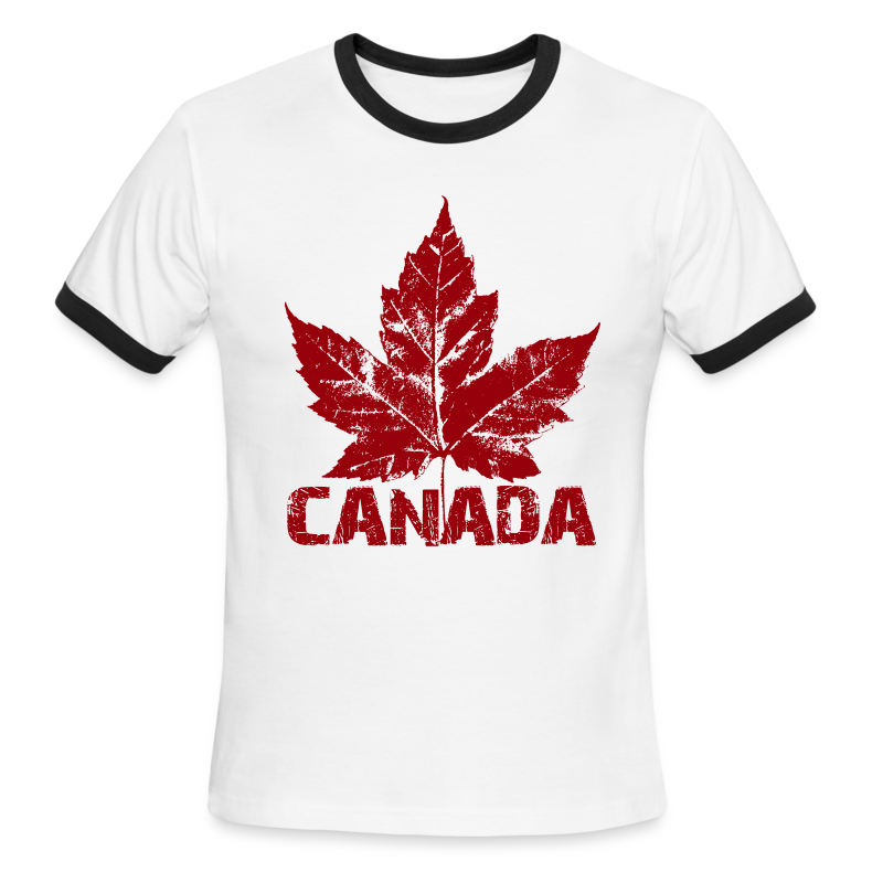 Cool Canada Souvenir T-shirt Mens Retro Canada T-shirt - Men's Ringer T-Shirt