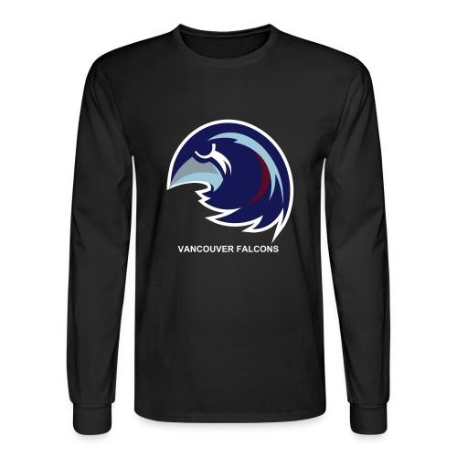 Vancouver Falcons Black Long Sleeve - Men's Long Sleeve T-Shirt