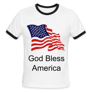 God Bless America - Men's Ringer T-Shirt