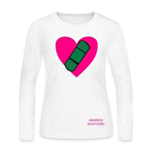 women's mended heart shirt - Women's Long Sleeve Jersey T-Shirt