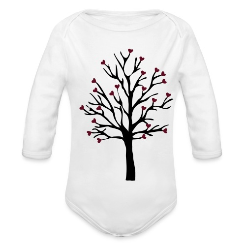 tree  - Organic Long Sleeve Baby Bodysuit