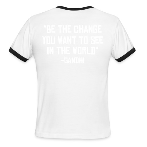 Men's Ringer T-Shirt - Designs show up best on colored shirts. Not recommended in white/black or white/red