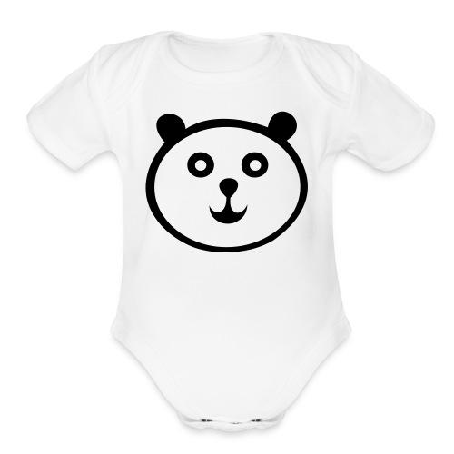 Panda Short-Sleeved One size - Organic Short Sleeve Baby Bodysuit