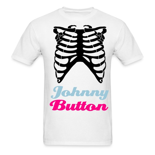 Johnny Button Ribcage T [White/Black] - Men's T-Shirt