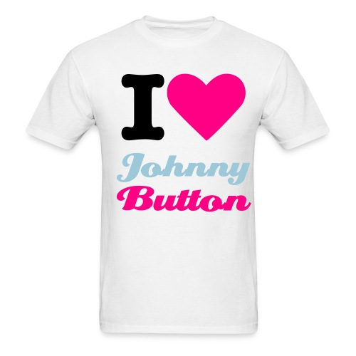 I Heart Johnny Button T - Men's T-Shirt