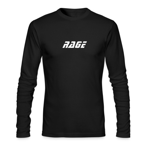 RAGE MENS LONG FITTED T BLK/WHT - Men's Long Sleeve T-Shirt by Next Level