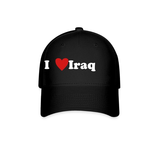 I Love Iraq Hat (Black) - Baseball Cap