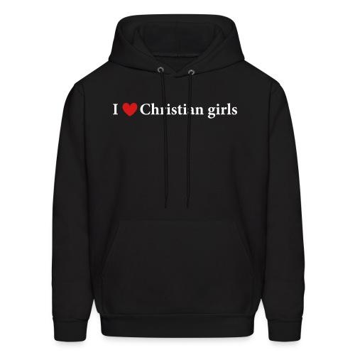 I Love Christian Girls - Men's Hoodie