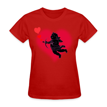 Cupid Love Valentines Day Womens T-shirt