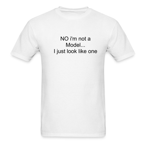 not a model - Men's T-Shirt