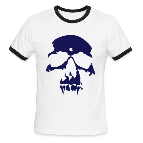 Blue Skull Tee - Men's Ringer T-Shirt